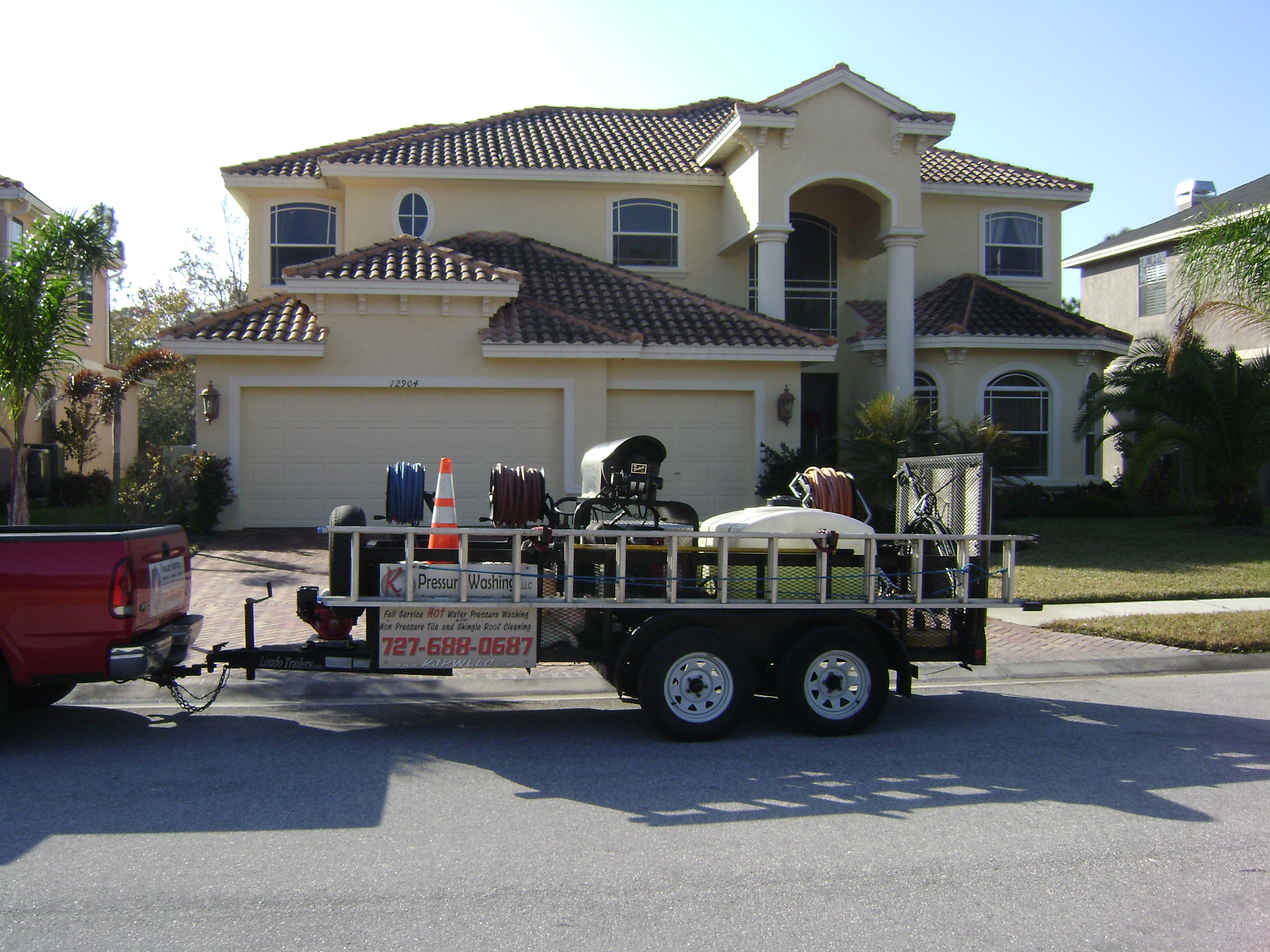Non Pressure Tile Roof Cleaning Palm Harbor Florida